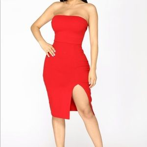 🌹Fashion Nova Strapless Bodycon Dress🌹
